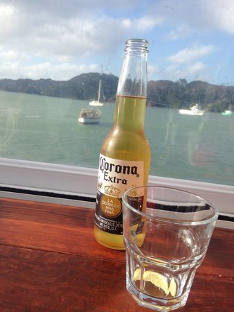 World Famous Fish and Chips: Corona beer !!! Cheers!!!