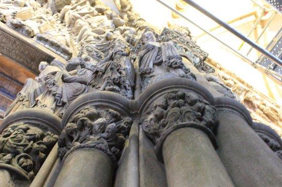 Portico de la Gloria : Detalle arquitectonico