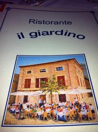 Restaurant il Giardino: Menu cover
