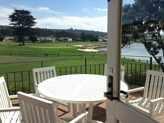 The Lodge at Pebble Beach: Terrace view from my suite