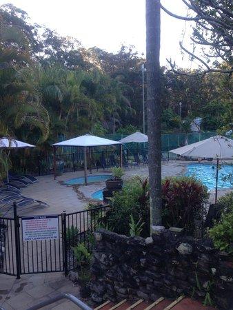Korora Bay Village Resort: Pool view
