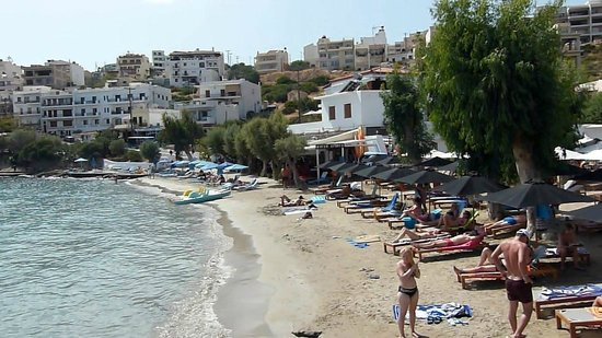 Agios Nikolaos, Greece: View of Ammoudi Beach