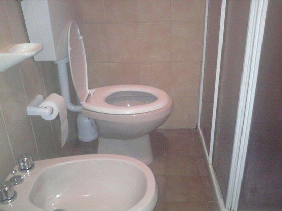 Hotel Anna Siena Nord: Water addossato alla doccia
