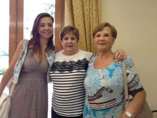 Villa La Contessina : With Anastasia and Antoinetta, her mother