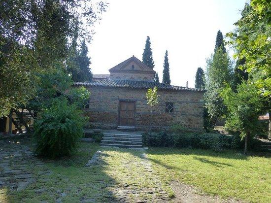 Church of Agios Nikolaos Orphanos: Overall Church View in Green Field