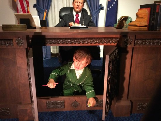National Presidential Wax Museum: JFK and John John -- wonderful!!