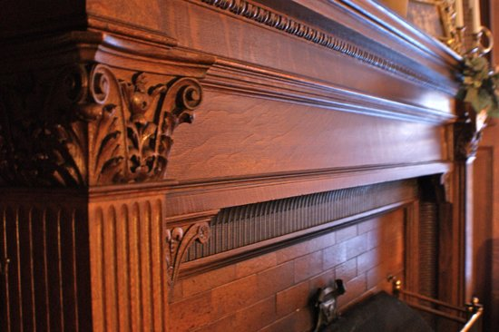 Greenville Inn at Moosehead Lake: Hand-tooled, rare woodwork