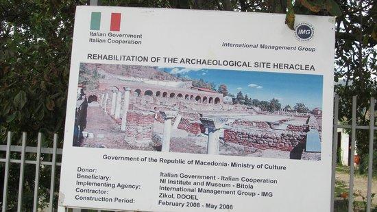 Heraclea: Плакат на входе