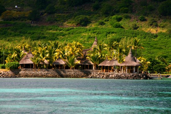 Le Morne Beach: vista sul resort