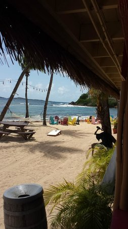 Iggies Beach Bar and Grill: View of the beach