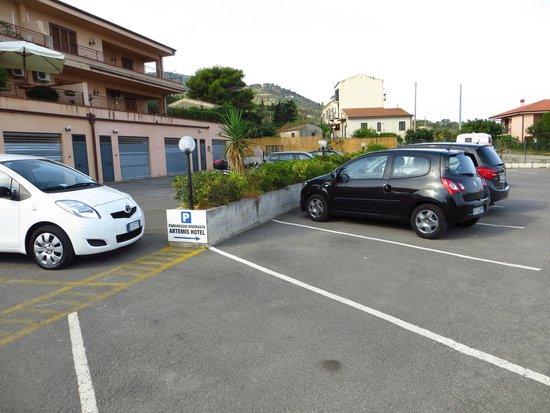 Secured Parking Lot