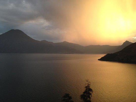 Lomas de Tzununa: Sunset on Lake Atitlan