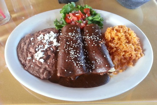 Chicken enchiladas with mole sauce - Picture of Mariasol ...
