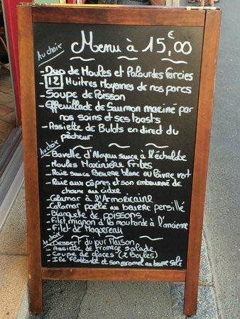 L'Huitrière : Il menu a 15 euro