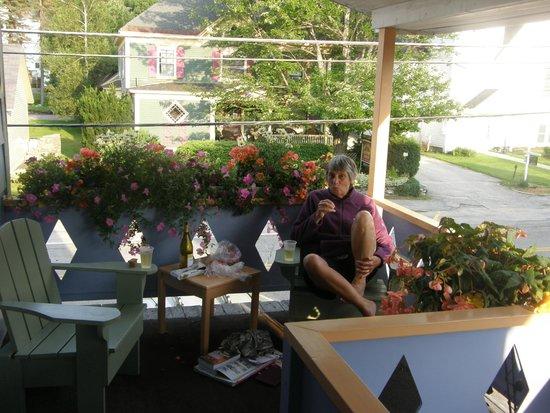 Bethel Village Motel: The verandah outside our room