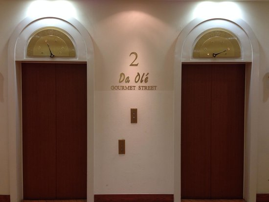 Namba Oriental Hotel: 2nd floor lift doors