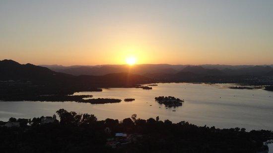Mansapurna Karni Mata Ropeway : View from top