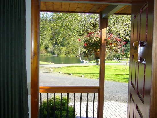 Quinault River Inn: nice view of the river from our room.