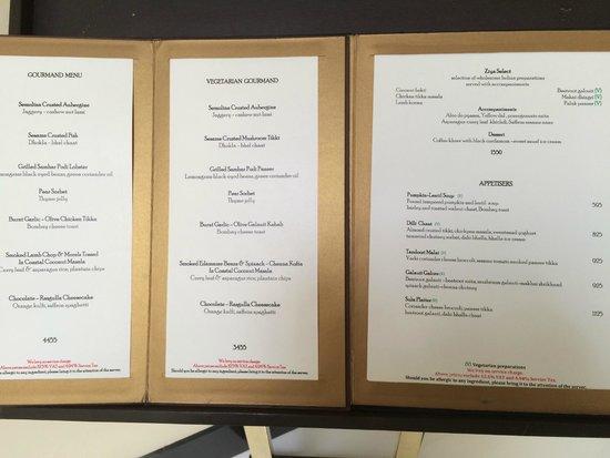 The Oberoi, Mumbai: Ziya menu