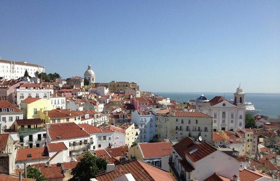Miradouro da Senhora do Monte : View from the highest point in Lisbon
