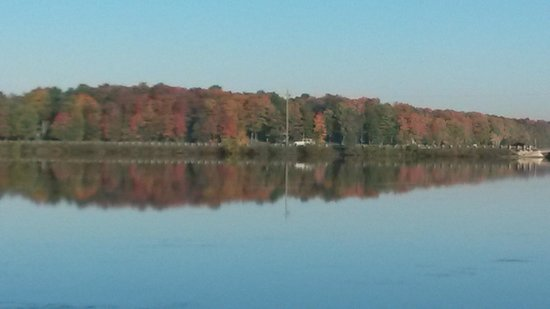 Cedars of Lake Eugenia - Cottage Resort: Looking across Lake Eugenia at Beautiful Fall Colours