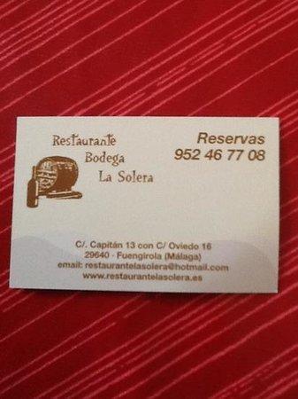 Restaurante La Solera: la solera