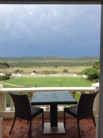 Shamwari Game Reserve Lodges: the view from our balcony (room 1)