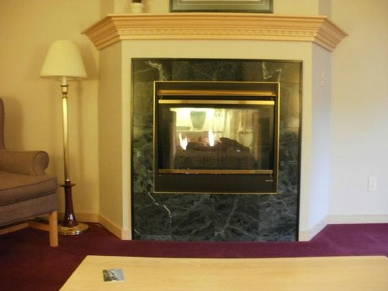 The Ashbrooke: two sided fireplace (living area and bedroom)