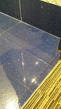 Best Western Plus Hotel Universo : Shower leaks onto floor