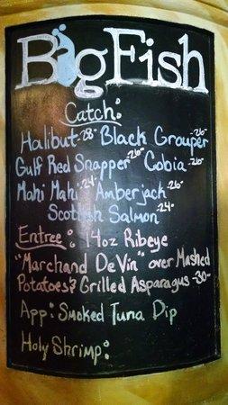 Big Fish Restaurant & Bar: Daily Catch