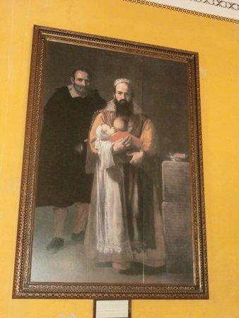 Casa de Pilatos: quadro con donna barbuta