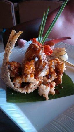 Anantara Seminyak Bali Resort: Freddie fish for lunch