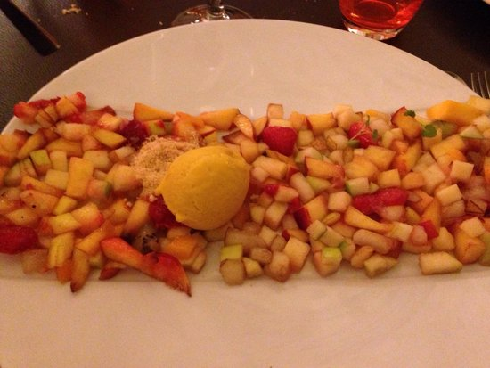 Le 6e Sens : Menu effervescence dessert la salade de fruit la meilleure !!