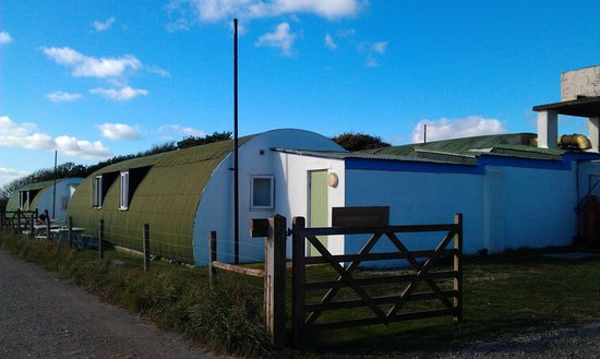 Millbrook, UK: In amongst renovated Nissen huts.