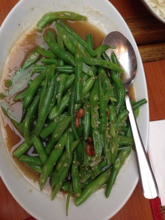 Sawasdee Thai Restaurant : Green beans
