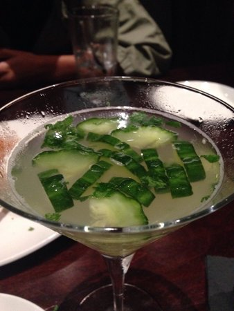 Firebirds Wood Fired Grill : Cucumber gimlet.   Refreshing and delicious.