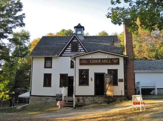 B.F. Clyde's Cider Mill: The cider mill.