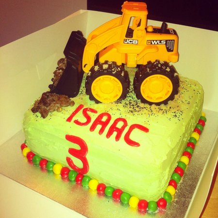 Pleasant Digger Birthday Cake Picture Of Silver Sparkle Cake Company Personalised Birthday Cards Beptaeletsinfo