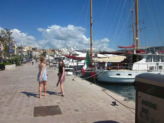 Trans Cote D'azur - The Coastal Ride: Amber and Holly Chapman on Cannes waterfront