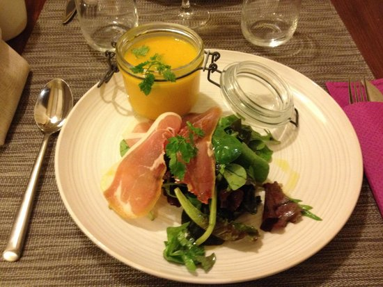 Restaurant Coté Cour : Velouté de courge