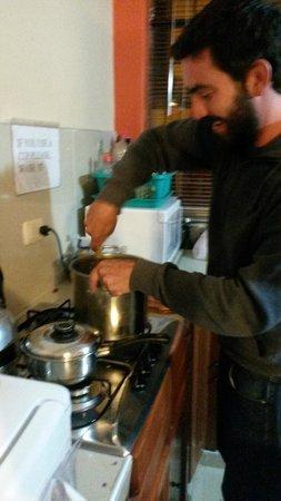 Inka's Rest: Cocinando