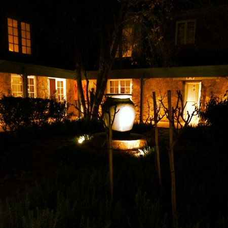 African Pride Mount Grace Country House & Spa : The lavender garden at night