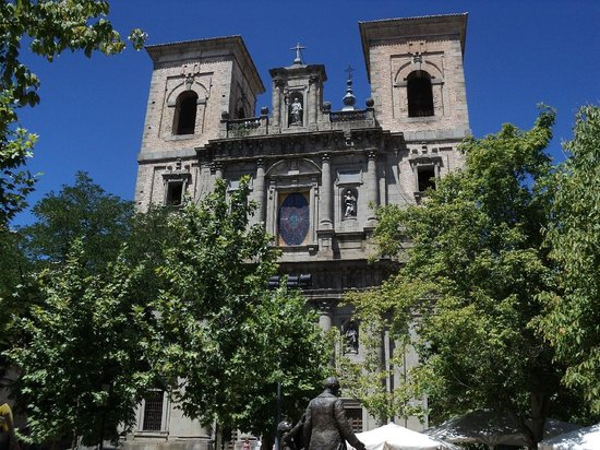 in front of the church - Picture of Iglesia de San ...