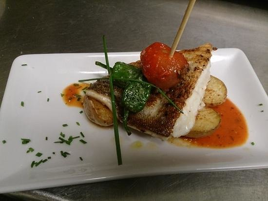 Havana Tapas Bar: grilled cod fillet with rosemary potatoes.