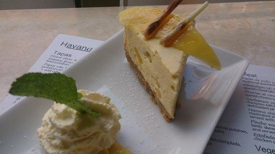 Havana Tapas Bar: homemade mango cheesecake.