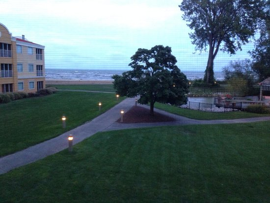 Cedar Point's Sandcastle Suites: View from our room