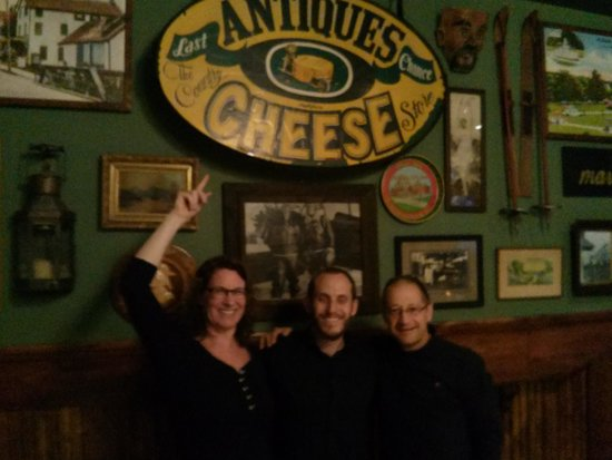 Last Chance Antiques & Cheese Cafe: at the Last Chance Cheese Shop Tavern with Dave, the owner and gracious host.