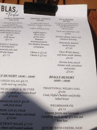 Blas at Fronlas: Yummy menu