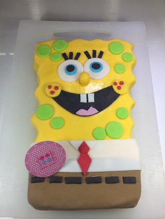 Superb Spongebob Birthday Cake By Joob Joob Picture Of Passion Personalised Birthday Cards Bromeletsinfo