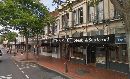 The Reef Steak And Seafood Restaurant Right In Heart Of George St Dunedin